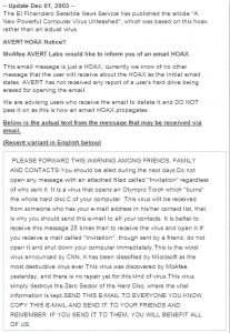 AVERT HOAX Notice