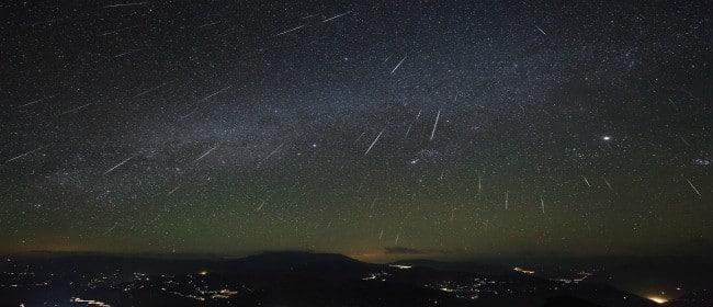 deszcz meteorytów