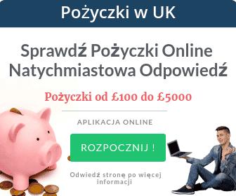 Pożyczki w UK online sprawdż natychmiastowa odpowiedź. Pożyczki od £100 - £5000. Okres spłaty nawet do 36 miesięcy. Sprawdż
