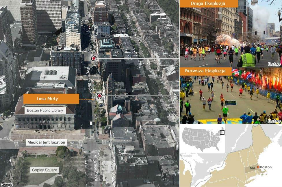 Maraton w Bostonie Atak Bombowy FBI Ujawnia Szczegóły
