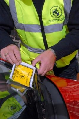 mandat za parkowanie w uk
