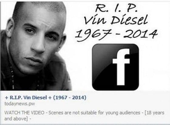 Vin Diesel Nie Żyje - Mistyfikacja