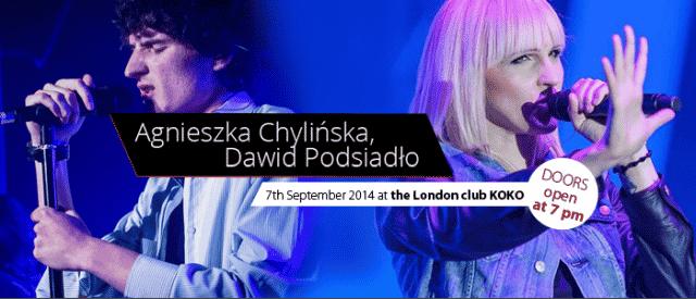 Agnieszka Chylińska i Dawid Podsiadło wystąpią w Londynie